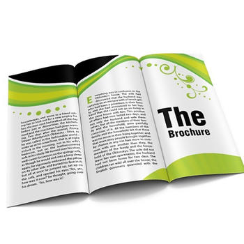 Custom printed leaflet brochure and flyer booklet printing service in China