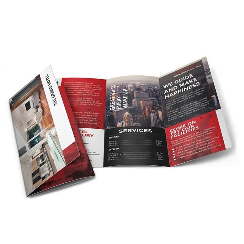 Meishi-Custom printed leaflet brochure and flyer booklet printing service-3
