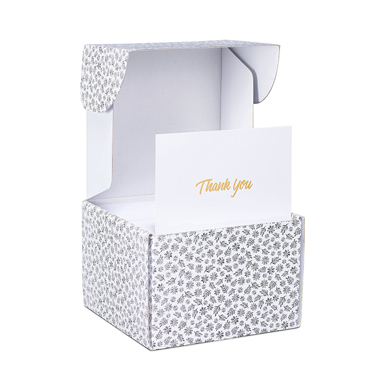 Meishi-Find Custom greeting Thank You Cards in gold foil embossed lettering-1