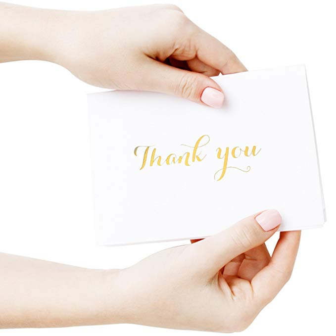 Meishi-Find Custom greeting Thank You Cards in gold foil embossed lettering-7