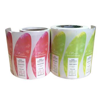 Printed custom adhesive waterproof Bath& Beauty Label stickers