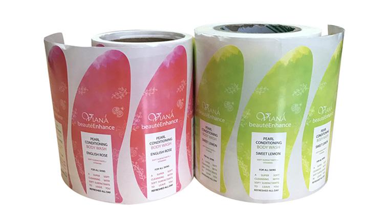 Meishi-Printed Custom Adhesive Waterproof Bath Beauty Label stickers