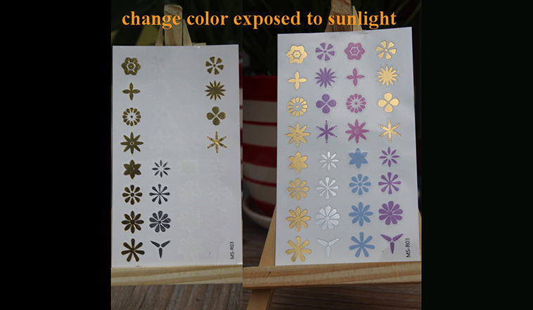 Meishi-Temporary Tattoo For Kid | Uv Color Changing temporary tattoo sticker