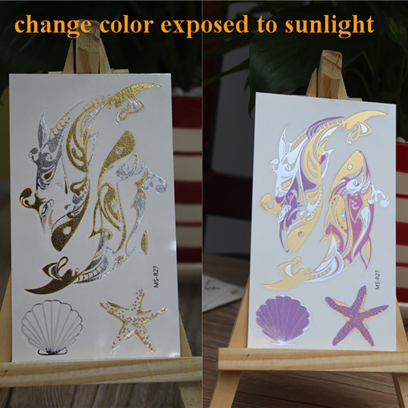 Meishi-Temporary Tattoo For Kid | Uv Color Changing temporary tattoo sticker-1