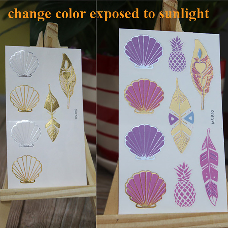 Meishi-Temporary Tattoo For Kid | Uv Color Changing temporary tattoo sticker-2