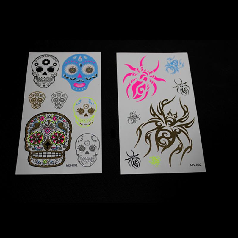 Meishi-Manufacturer Of Fluorescent glow tattoo body art flash sticker-1