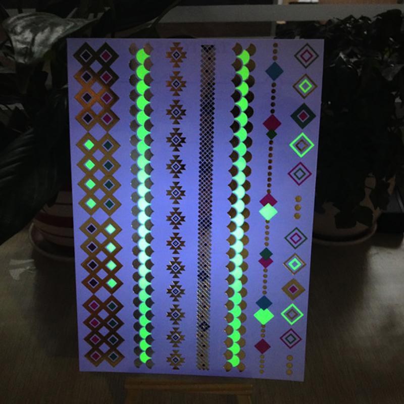 Meishi-Manufacturer Of Fluorescent glow tattoo body art flash sticker-2