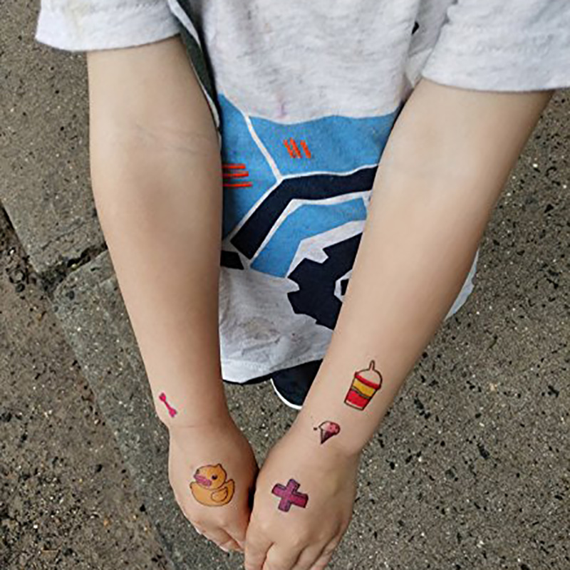 Meishi-Custom Non-toxic And Safe Temporary tattoos for kids-3