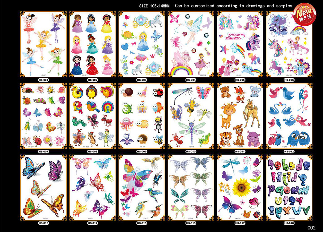 Meishi-Custom Non-toxic And Safe Temporary tattoos for kids-4