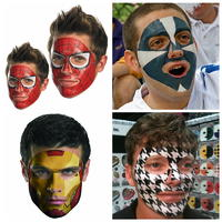 Full face tattoo mask tattoo for adult and kids