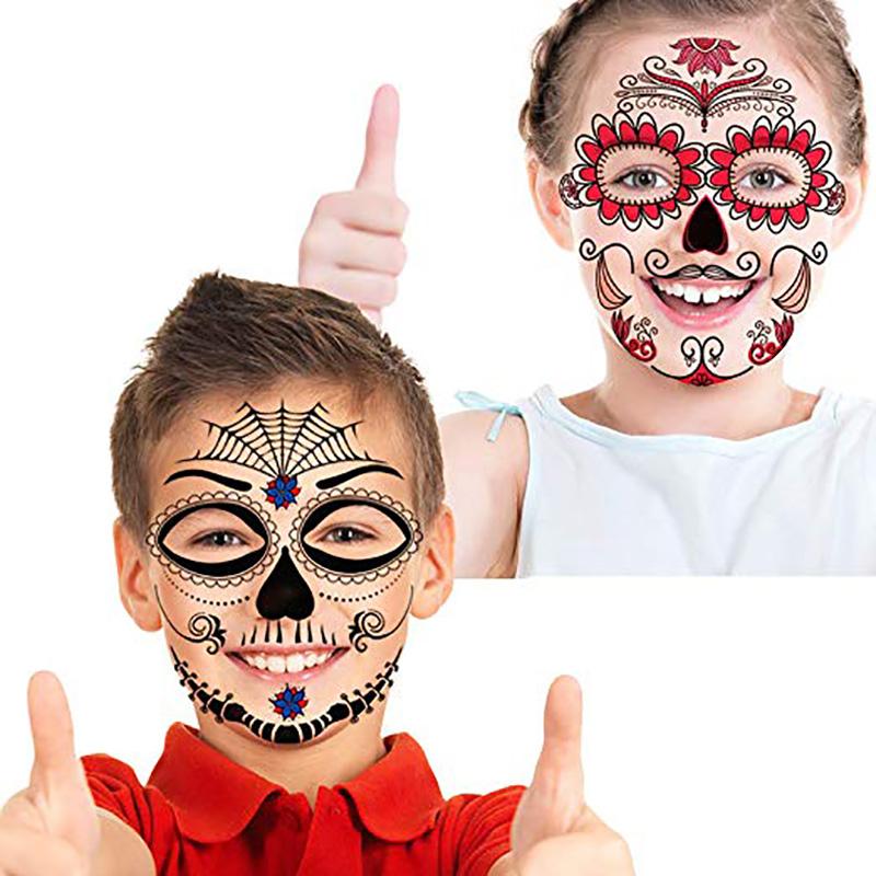 Meishi-Custom Tattoo Sticker Full Face Tattoo Mask Tattoo For All-3