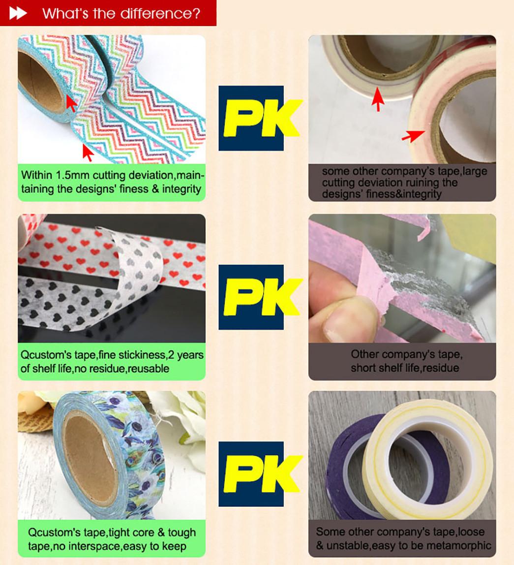 Meishi-Custom printed decorative colourful DIY craft notebook washi tape-1