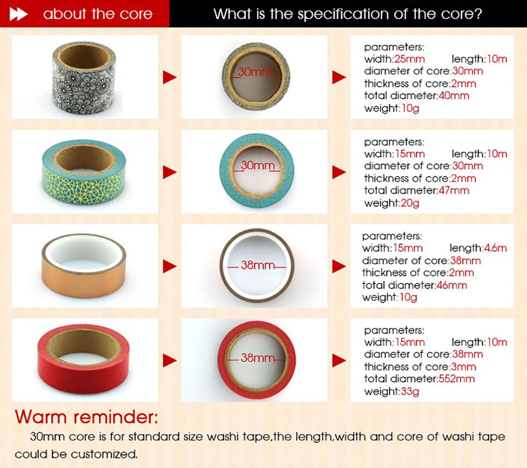 Meishi-Custom Printed Washi Tape Custom Make Washi Tape Gold Foil