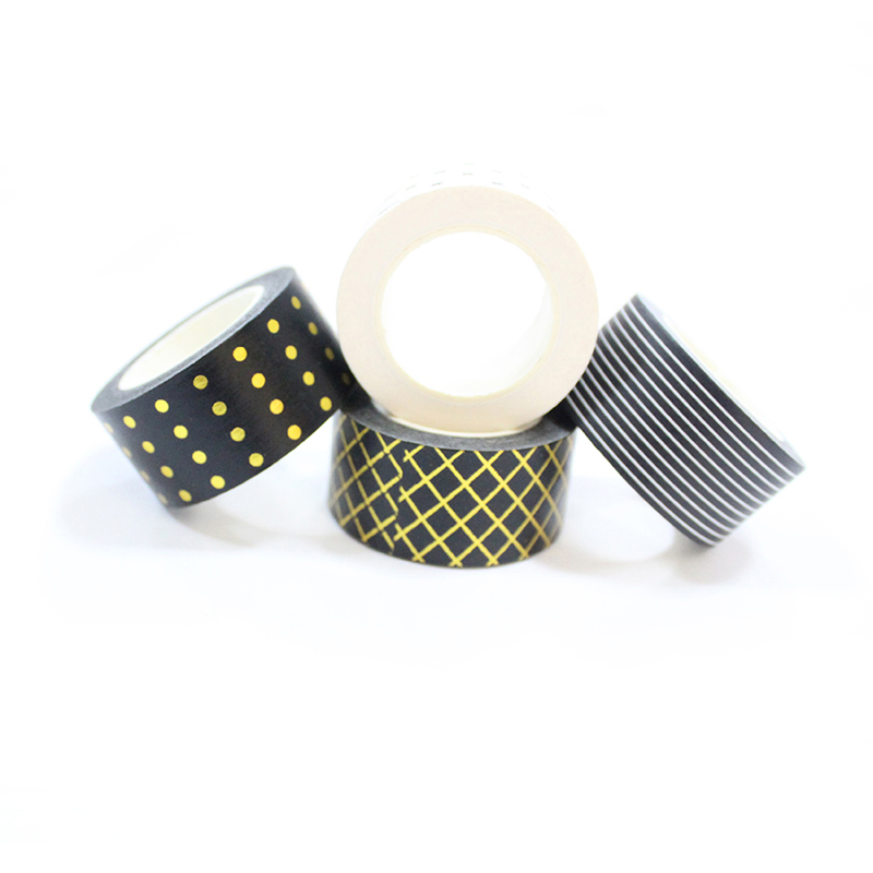 Meishi-Custom Printed Washi Tape Custom Make Washi Tape Gold Foil-3