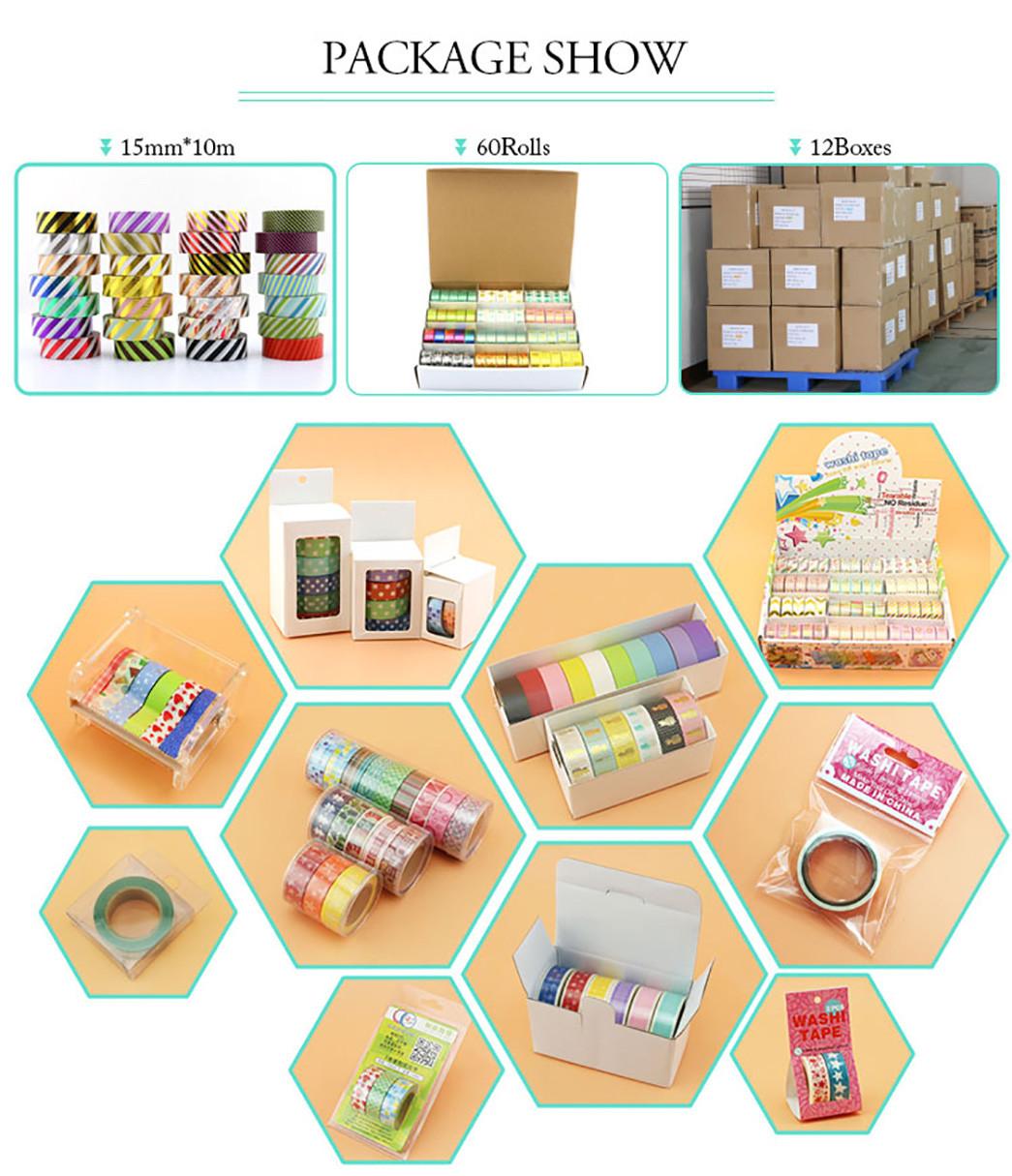 Meishi-Custom Japanese Washi Masking Paper Adhesive Tape For Sale-3