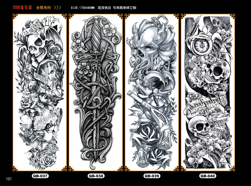 Meishi-Temporary Tattoo Halloween, Wholesale Water Transfer Armband Temporary Tattoo-8