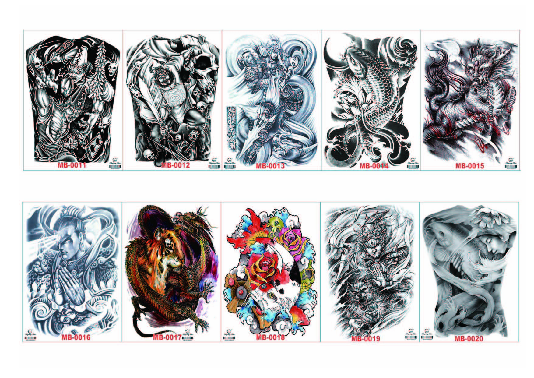 Meishi-High-quality Temporary Tattoo Printing | Full Back Temporary Tattoo For Men-1
