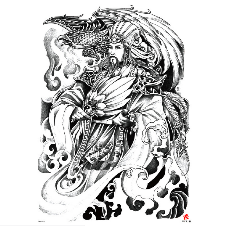 Meishi-High-quality Temporary Tattoo Printing | Full Back Temporary Tattoo For Men-4