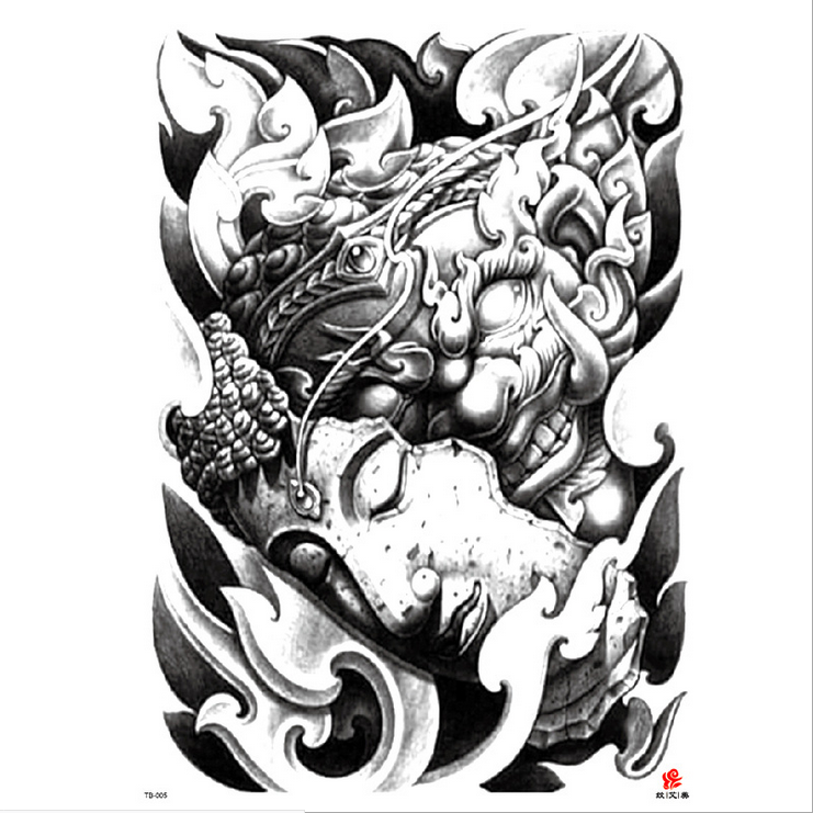 Meishi-High-quality Temporary Tattoo Printing | Full Back Temporary Tattoo For Men-6