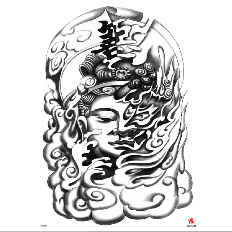 Meishi-High-quality Temporary Tattoo Printing | Full Back Temporary Tattoo For Men-7