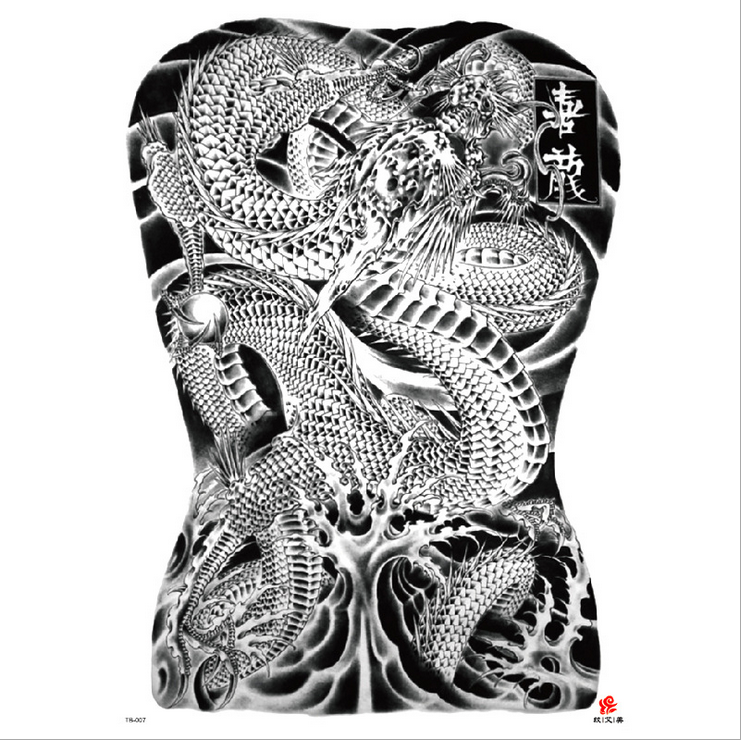 Meishi-High-quality Temporary Tattoo Printing | Full Back Temporary Tattoo For Men-8