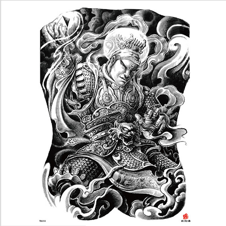 Meishi-High-quality Temporary Tattoo Printing | Full Back Temporary Tattoo For Men-14