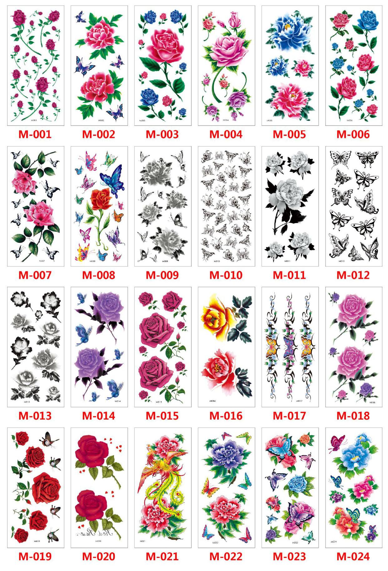 Meishi-Custom Tattoo Sticker Beautiful 3d Tattoo Temporary Tattoo Sticker-8