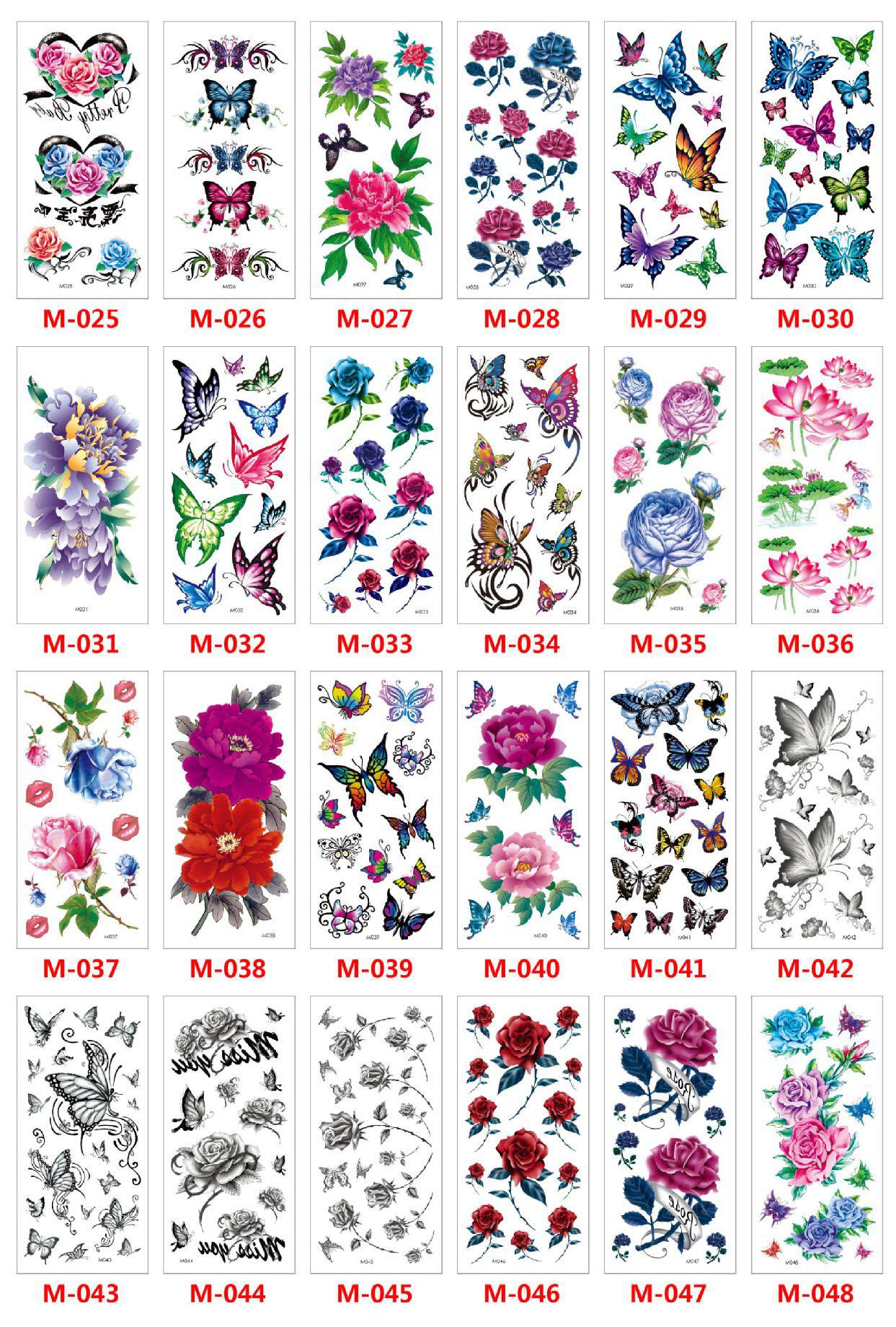 Meishi-Custom Tattoo Sticker Beautiful 3d Tattoo Temporary Tattoo Sticker-9