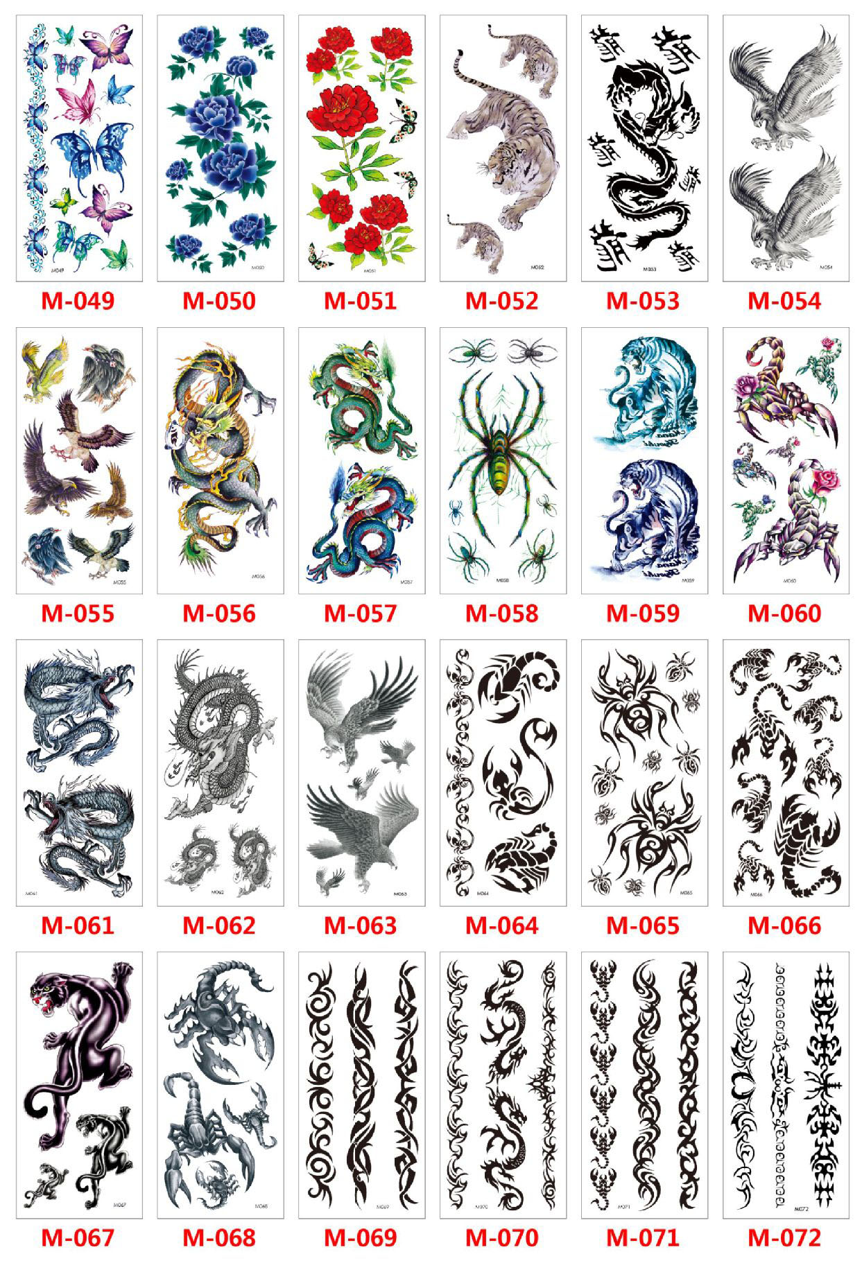 Meishi-Custom Tattoo Sticker Beautiful 3d Tattoo Temporary Tattoo Sticker-10