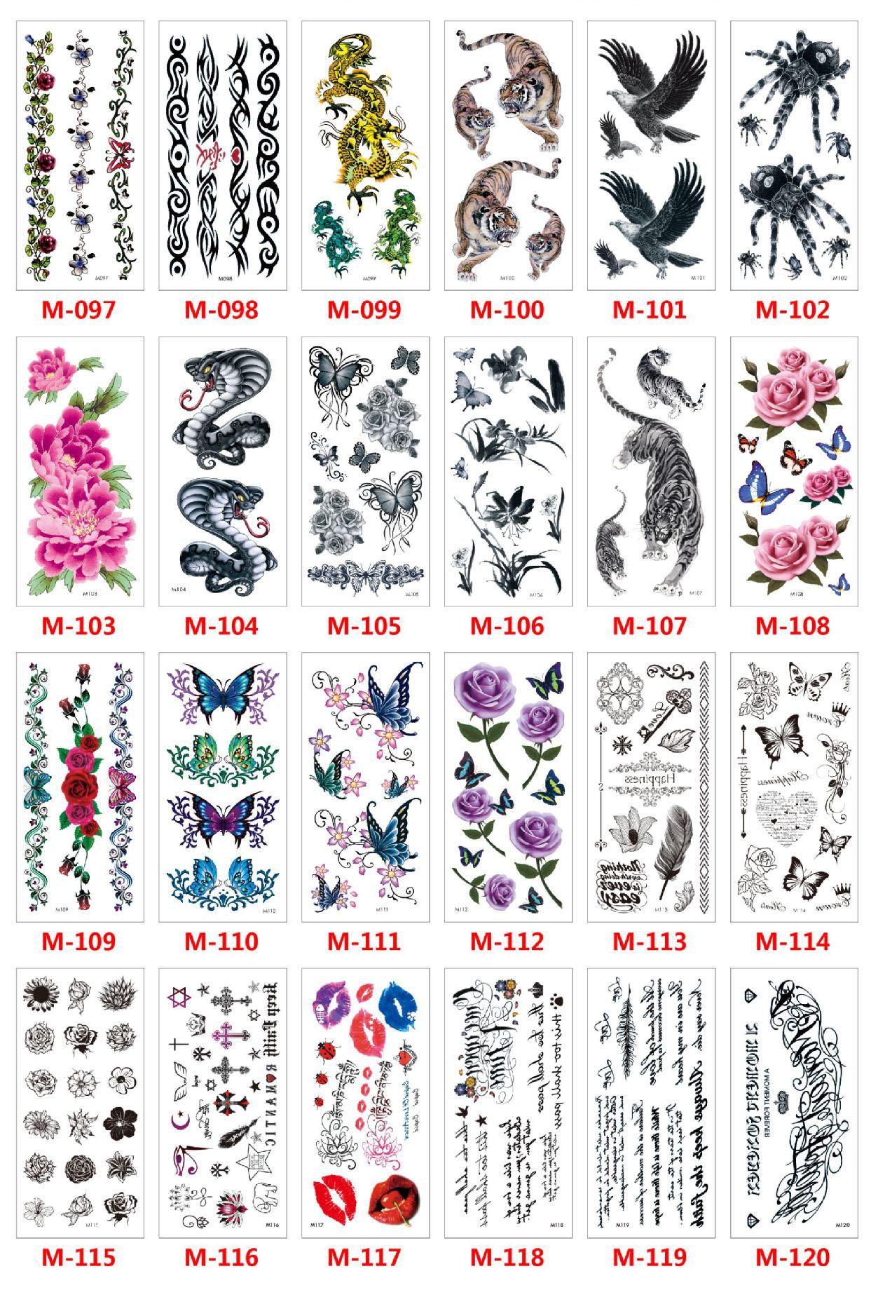 Meishi-Custom Tattoo Sticker Beautiful 3d Tattoo Temporary Tattoo Sticker-12